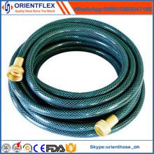 Tuyau flexible de jardin de PVC / tuyau d'eau tressés de fibre de PVC