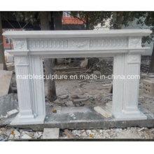 Einfacher Stil Pure White Marmor Kamin (SY-MF222)