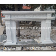 Cheminée en marbre blanc pur de style simple (SY-MF222)