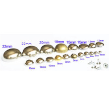 Single Cap Spheres Rivets Silver Tone