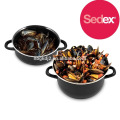 Final Touch MP201 Enamel Mussels Pot with high quality& enamel olla pot