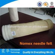 Bolso de filtro de poliéster de 300 micras de poliéster de aguja de alta calidad