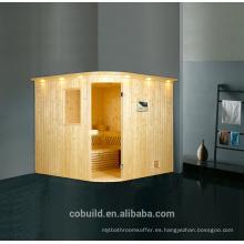 K-716 sauna / piedra de la sauna de gran tamaño, proveedor chino sala de vapor de madera maciza, sauna precio de la habitación de malasia