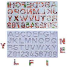 DIY Crystal Epoxy Alphanumeric Silicone Molds 26 English Alphanumeric Silicone Resin Molds High Mirror Surface Craft