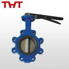 Tipo de taco de válvula de agua de mariposa ANSI BS DIN JIS de baja presión