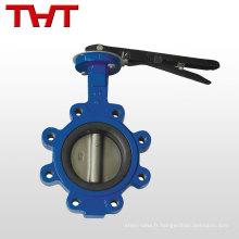 Basse pression ANSI BS DIN JIS papillon type robinet d'eau type de cosse