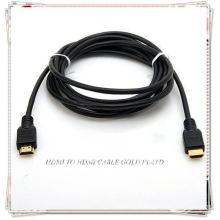 Cabo PREMIUM HDMI para HDTV Totalmente compatível com HDCP para fornecer o mais alto nível de qualidade de sinal
