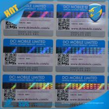Heißer Verkauf scratch weg Aufkleber für Sicherheitsaufkleber versteckte Seriennummer druckte Kratzer weg vom Hologramm