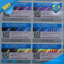 Vente chaude scratch off sticker pour étiquette de sécurité numéro de série caché imprimé scratch off hologram