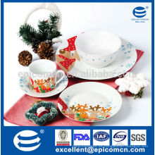 Plato de cerámica de Navidad, vajilla de cerámica, placa de alimentos de cerámica conjunto