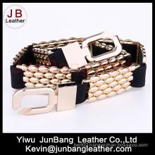 Fashion Style Women′s Elastic Metal Belt