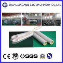 Linha de produção de tubos de PVC com dupla cavidade