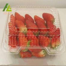 Conteneur de fruits en plastique transparent aux fraises