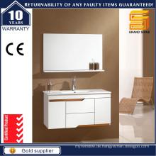 Einfache Art Hochglanz-Weiß-Lack MDF Badezimmer-Eitelkeiten