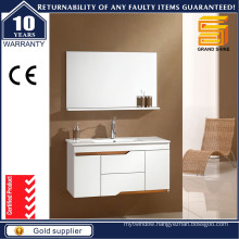 Simple Style High Gloss White Lacquer MDF Bathroom Vanities