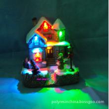 Polyresin Christmas House, Resin Christmas Village