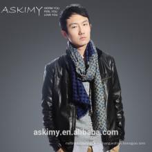 100% Шерстяной шарф Высокое качество сплетенный мужская шерсть шарфа