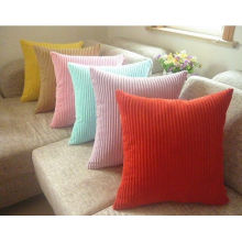 18 Inch Decorative Zippered Velvet Sofa Pillows Covers Solid Color For Car Seat