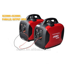Gerador de gasolina de inversor digital de tipo silencioso de 2KW para venda