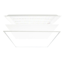 Recessed installation LED panel light 600x600 with PMMA/PS diffuser UGR<19