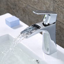 B0038-F new design brass cheap bathroom cold and hot water tap zinc alloy handle 35mm basin faucet