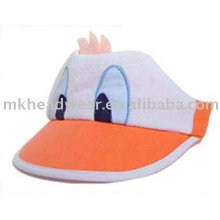 kids cute sun visor cap with animal head design