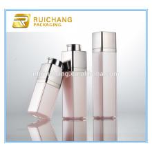 Nova forma de chegada 15ml / 30ml / 50ml quadrados girar cosmético airless garrafa