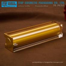 ZB-PK80 80 мл горячей продажи роскошные 80 мл Золотой квадратных акриловые безвоздушного косметики бутылки