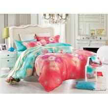 Frische Farbe elegantes Design bequeme Qualität reine Baumwolle reaktive gedruckte luxuriöse Bettwäsche