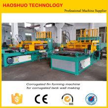 Máquina acanalada de la fabricación de la pared del tanque de aleta, aleta acanalada que forma la máquina