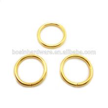 Ouro de alta qualidade do metal da forma chapeado anel de O