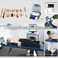 Manequim de CPR adulta avançada ISO com AED e treinamento de cuidados de trauma