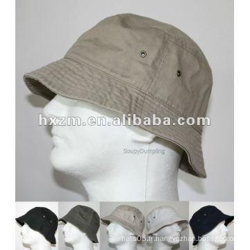 HOMMES 100% COTON FISHING BUCKET HAT CAP-BEIGE BLACK GREEN NAVY WHITE-S / ML / XL