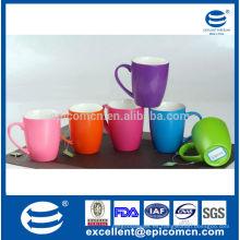320ml / 11oz personalizada logotipo impresión nuevo hueso esmaltado perla brillante taza de café