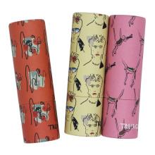 Emballage de baume à lèvres en tube de rouge à lèvres en papier coloré