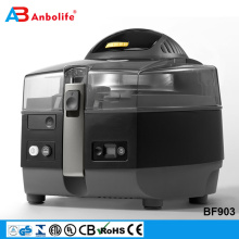 1400W easy clean rapid cooking ceramic coating multicooker /fries/pizzas/cakes/pies air fryer with transparent lid