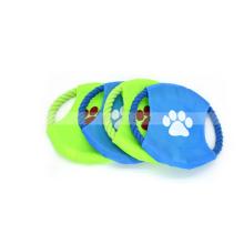 Corda do brinquedo do cão do brinquedo da corda da mastigação do animal de estimação do frisbee para o cão