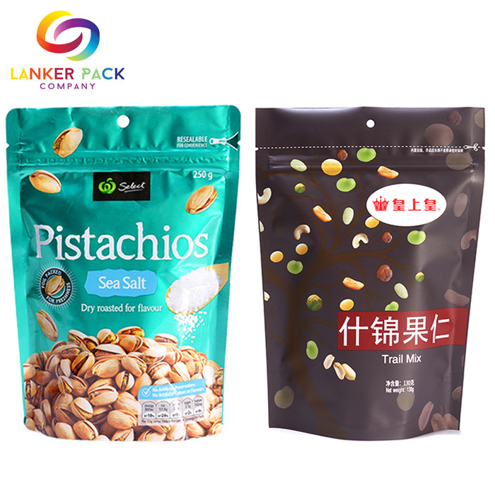 Printed Zip Top Laminated Material Pouch Packaging