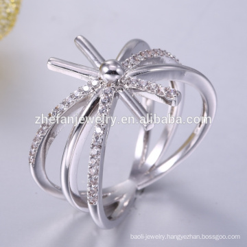 Beautiful engagement for women 925 silver AAA cz stone ring