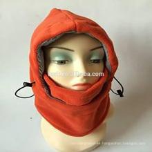 6in1 Fleece invierno sombreros de punto y gorras mascarilla de esquí pasamontañas