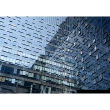 Système de mur rideau en verre de structure en acier