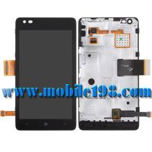 para Nokia Lumia 900 Pantalla LCD y montaje digitalizador con carcasa frontal