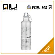 750ml silver stainless steel sports bottle