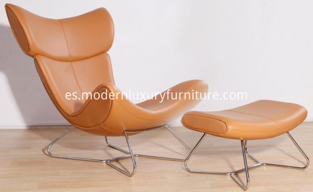Leather Lounge Chair And Stool