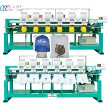 Serviette / vêtement Ordinateur 6 Têtes Cap & T-shirt Broderie Machine