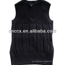 PK17ST340 универсальные женские V шеи свитер жилет оптом