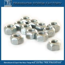 M6 * 1 DIN980V type écrous hexagonaux de couple de serrage