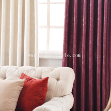 Cheapest Factory for Plain Blackout Curtain Embossed blackout window curtain fabric supply to New Zealand Factory