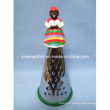 Poly Resin Decorative Africa Figure Handle Grater