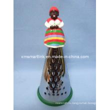 Полиэфирная декоративная африканская фигурная ручка
